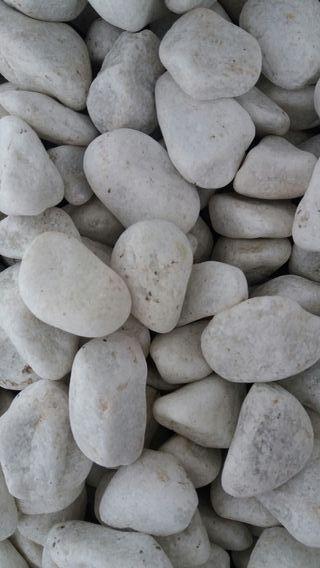 Piedras de jardín Blanca calcárea