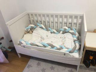 Cuna bebé ikea + nórdico zara