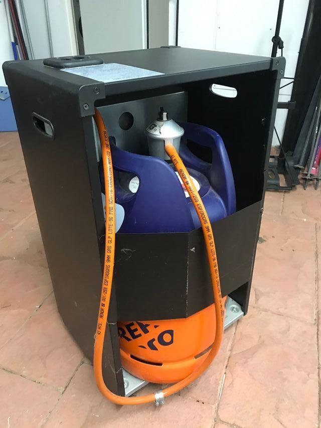 Estufa de gas llama azul con regulador y manguera