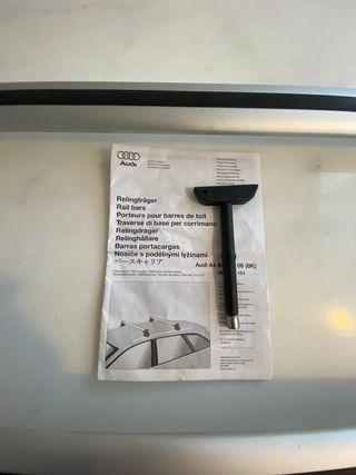 Baca y portabicis Audi