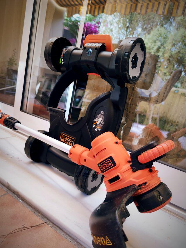 Cortacesped Desbrozadora + Base con ruedas