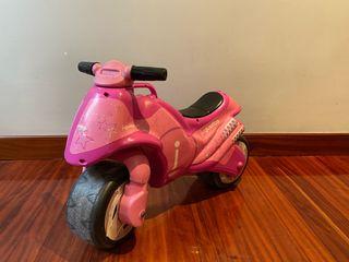 Moto rosa juguettos