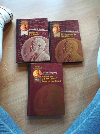 3 libros colección sobre premios nobel