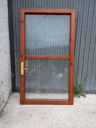 ventanas pino barnizado