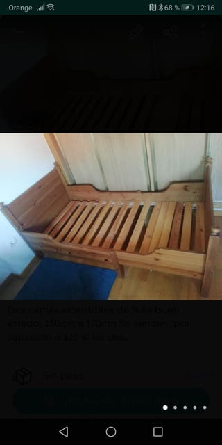 Cama infantil de madera tipo Ikea