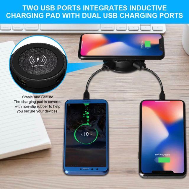 Cargador Teléfono Inalámbrico QI con 2 USB