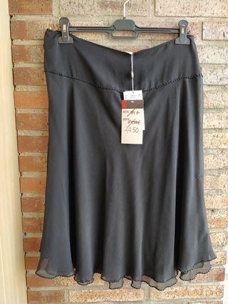 Falda negra midi Amitie