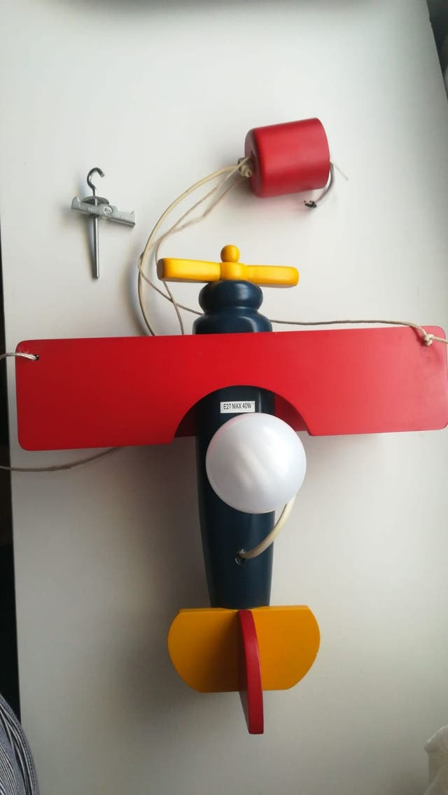Porta lámpara avioneta
