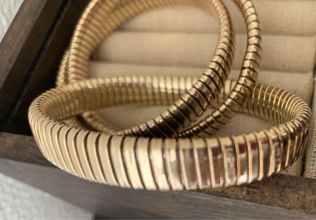 Pulsera de plata color oro