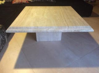 mesa centro mármol travertino
