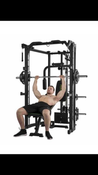 maquina multipower gym 80kg banco