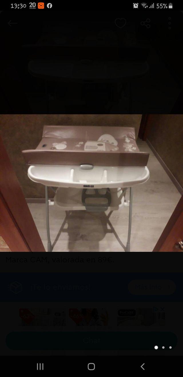 bañera seminueva bebé cambiador