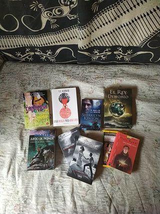 Pack libros juveniles de fantasía romántica.