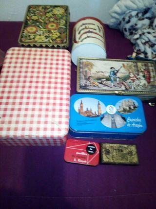 cajas de chapa vintage