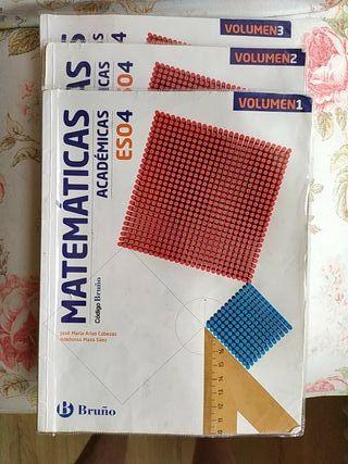 Libros Matemáticas 4°ESO Ed. Bruño