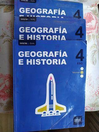 Libros Geografía e Historia 4° ESO Ed. Oxford