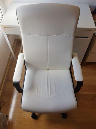 Silla/sillón despacho/estudio blanca (x2)