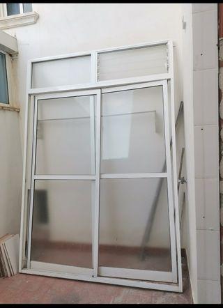 Lote de ventanas de aluminio