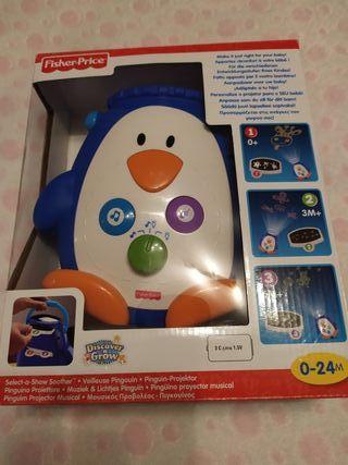 Pingüino proyector musical.