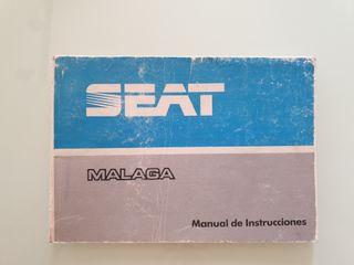 Manual instrucciones Seat Málaga