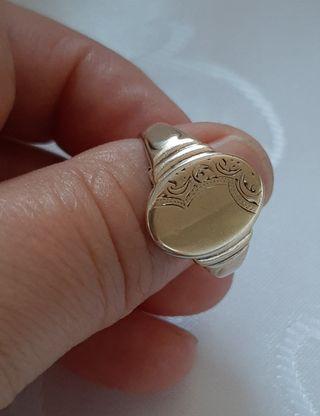 Anillo vintage de oro 9ct y plata 925.