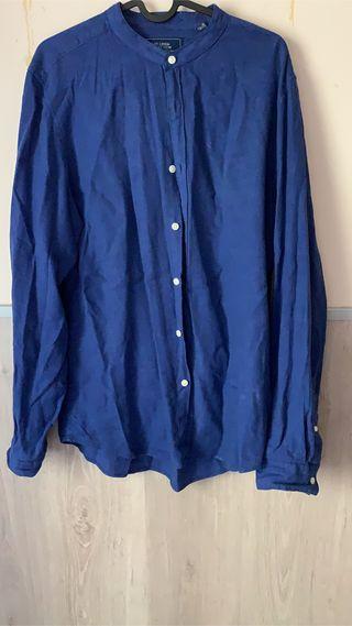 Camisa efecto lino