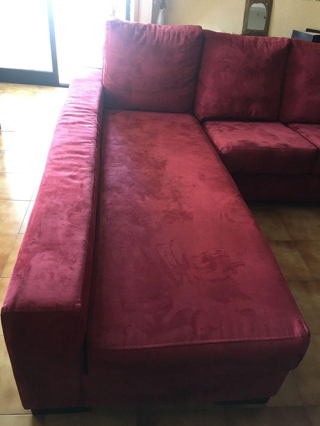 Sofá chaiselongue granate