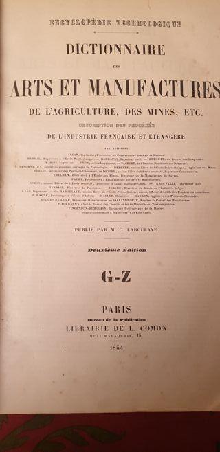 Dictionnaire de arte et manufactures