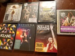 7 dvds conciertos precintados