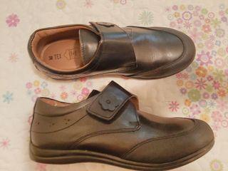 zapatos pielniña colegio sin estrenar t. 38 negro
