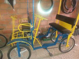 Carrito bici con toldo 2 personas muy fuertes