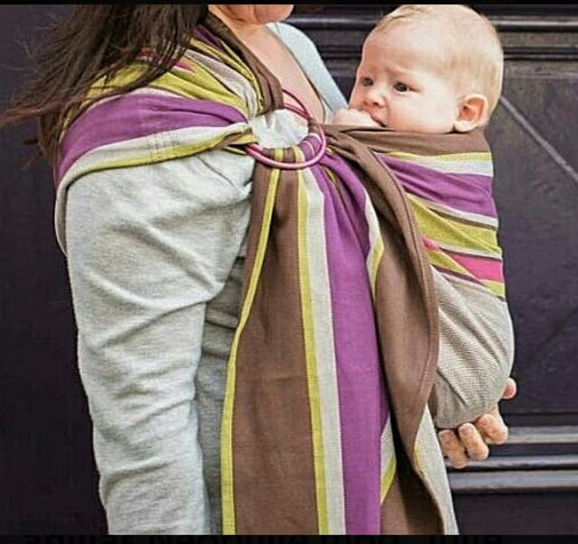 porta bebé bandolera de anillas Neobulle
