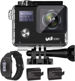 Camara deportiva 4K WIFI - control remoto con SD