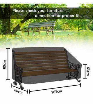Funda para muebles jardín NUEVA 163x66x89cm