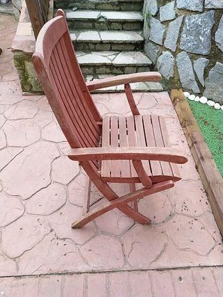 sillas madera jardín segunda mano