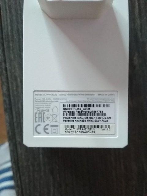 TP-Link TL-WPA4010 KIT Kit Extensor Powerline WiFi