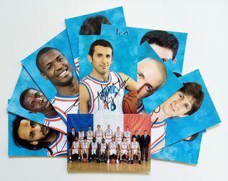 Set de postales Selección Francia Eurobasket '99