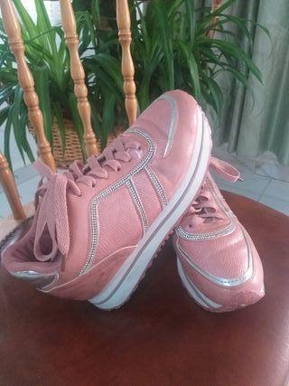 zapatillas deportivas con plataforma 38
