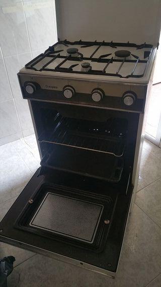 cocina y horno de gas