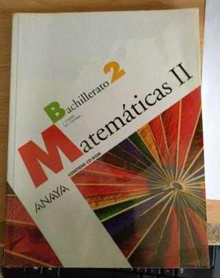 libro bachillerato matemáticasAnaya