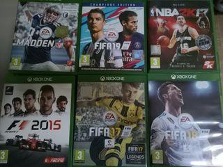Lote de Videojuegos Xbox One