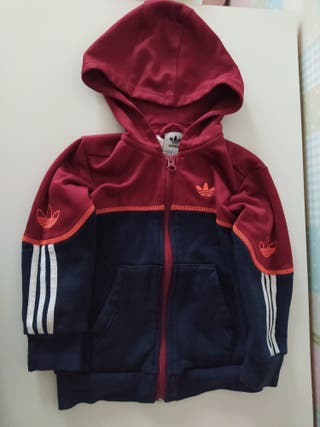 Chaqueta capucha Adidas Originals T. 2/3 98cm