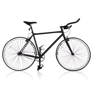 Bicicleta de carretera fixie negra