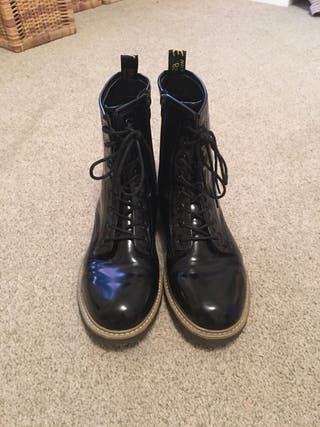 Patent Leather Boots Size 7