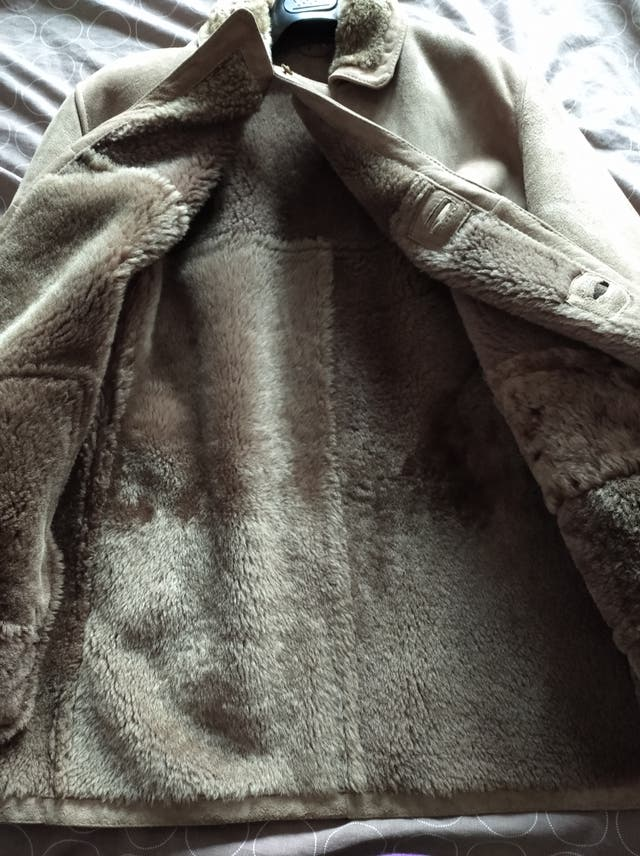 chaquetón de piel para hombre