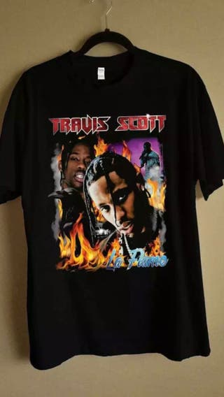RARE Travis Scott la flame t-shirt