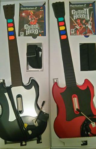 Pack Guitar Hero 1 y 2 Completos PS2
