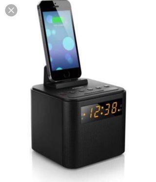 Radio reloj despertado cargador móvil Philips