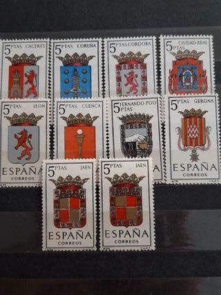 10 Sellos postales ciudades de España