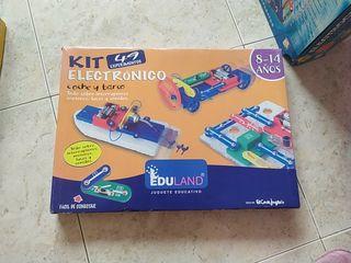 Juego kit electrónico coche y barco.